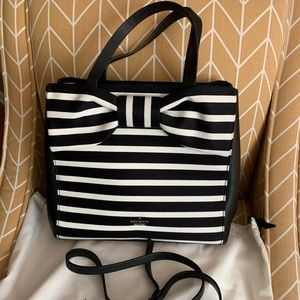 Kate Spade Striped Bow Handbag